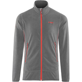 Bergans M's Lovund Fleece Jacket Solid Dark Grey/Fire Red